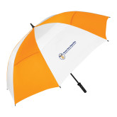 62 Inch Orange/White Vented Umbrella-Newport News Shipbuilding