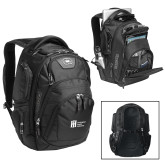 Ogio Stratagem Black Backpack-Huntington Ingalls Industries
