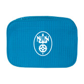 Large Aqua Waffle Cosmetic Bag-Icon