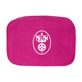 Large Hot Pink Waffle Cosmetic Bag-Icon