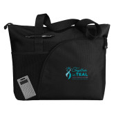 Excel Black Sport Utility Tote-Primary Mark Stacked