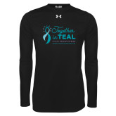 Under Armour Black Long Sleeve Tech Tee-Primary Mark Stacked