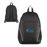 Atlas Black Computer Backpack-Secondary Mark Stacked