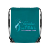 Teal Drawstring Backpack-Secondary Mark Stacked