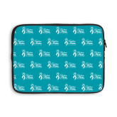 13 inch Neoprene Laptop Sleeve-Primary Logo Repeating Pattern
