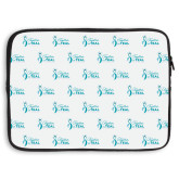 15 inch Neoprene Laptop Sleeve-Primary Logo Repeating Pattern