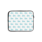 10 inch Neoprene iPad/Tablet Sleeve-Primary Logo Repeating Pattern