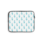 10 inch Neoprene iPad/Tablet Sleeve-Ribbon Repeating Pattern