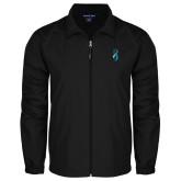 Full Zip Black Wind Jacket-Ribbon