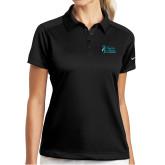 Ladies Nike Dri Fit Black Pebble Texture Sport Shirt-Secondary Mark Stacked