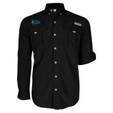 Columbia Bahama II Black Long Sleeve Shirt-Secondary Mark Stacked