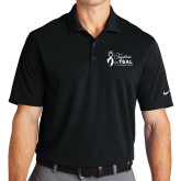 Nike Golf Dri Fit Black Micro Pique Polo-Secondary Mark Stacked