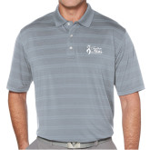 Callaway Horizontal Textured Steel Grey Polo-Secondary Mark Stacked