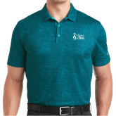 Nike Dri Fit Teal Crosshatch Polo-Secondary Mark Stacked