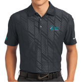 Nike Dri Fit Black Embossed Polo-Secondary Mark Stacked