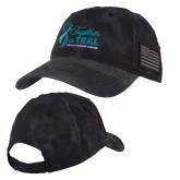 Kryptek Typhon Black U.S. Flag Hat-Secondary Mark Stacked