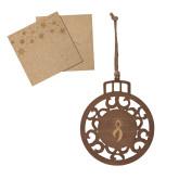 Wood Holiday Ball Ornament-Ribbon Engraved