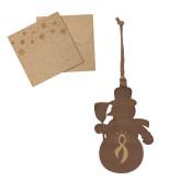 Wood Snowman Ornament-Ribbon Engraved