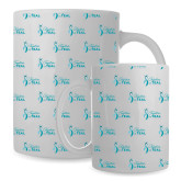 Full Color White Mug 15oz-Primary Logo Repeating Pattern