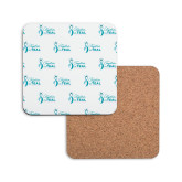 Hardboard Coaster w/Cork Backing-Primary Logo Repeating Pattern
