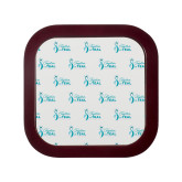 Square Coaster Frame w/Insert-Primary Logo Repeating Pattern