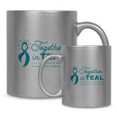 Full Color Silver Metallic Mug 11oz-Primary Mark Stacked
