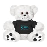 Plush Big Paw 8 1/2 inch White Bear w/Black Shirt-Primary Mark Stacked