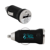 On the Go Black Car Charger-Primary Mark Stacked