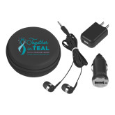 3 in 1 Black Audio Travel Kit-Primary Mark Stacked