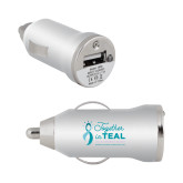 On the Go Silver Car Charger-Primary Mark Stacked