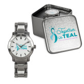Mens Stainless Steel Fashion Watch-Secondary Mark Stacked