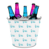 Metal Ice Bucket w/Neoprene Cover-Primary Logo Repeating Pattern