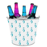 Metal Ice Bucket w/Neoprene Cover-Ribbon Repeating Pattern