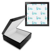 Ebony Black Accessory Box With 6 x 6 Tile-Primary Logo Repeating Pattern
