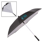 48 Inch Auto Open Black/White Inversion Umbrella-Primary Mark Stacked