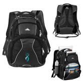 High Sierra Swerve Black Compu Backpack-Ribbon