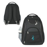 The Ultimate Black Computer Backpack-Ribbon