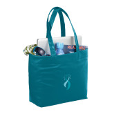 Fine Society Teal Computer Tote-Secondary Mark Stacked