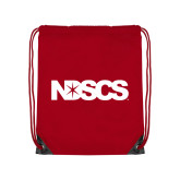 Red Drawstring Backpack-NDSCS