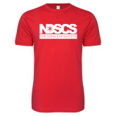 Next Level SoftStyle Red T Shirt-NDSCS w/ Science of Success Tagline