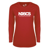 Ladies Syntrel Performance Red Longsleeve Shirt-NDSCS w/ Science of Success Tagline - No box