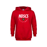 Youth Red Fleece Hoodie-Volleyball Under Bar
