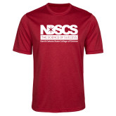 Performance Red Heather Contender Tee-NDSCS Full Logo
