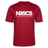 Performance Red Heather Contender Tee-NDSCS w/ Science of Success Tagline - No box