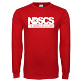 Red Long Sleeve T Shirt-NDSCS w/ Science of Success Tagline