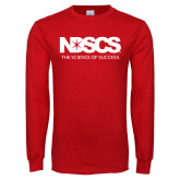 Red Long Sleeve T Shirt-NDSCS w/ Science of Success Tagline - No box