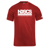 Russell Core Performance Red Tee-NDSCS Full Logo