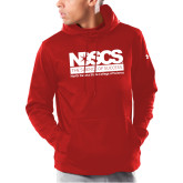 Under Armour Red Armour Fleece Hoodie-NDSCS Full Logo