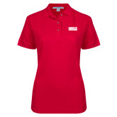 Ladies Easycare Red Pique Polo-NDSCS w/ Science of Success Tagline