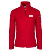 Columbia Ladies Full Zip Red Fleece Jacket-NDSCS w/ Science of Success Tagline